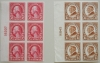 SCOTT 576 AND 577 IMPERF PLATE BLOCKS OF 6 - U.S.-POSTAGE-STAMPS
