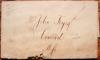 BOSTON MASSACHUSETTS 1820 STAMPLESS FOLDED LETTER FROM JOHN & GEORGE PRATT (INDIA WHARF). - POSTAL HISTORY