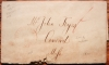 BOSTON MASSACHUSETTS 1820 STAMPLESS FOLDED LETTER FROM JOHN & GEORGE PRATT (INDIA WHARF). - POSTAL HISTORY