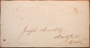 LEE MASSACHUSETTS 1846 STAMPLESS FOLDED LETTER TO HARTFORD CONNECTICUT - POSTAL-HISTORY