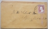 MANCHESTER NEW HAMPSHIRE 1850S COVER WITH SCOTT #11 AND 3 PAID POSTMARK - POSTAL-HISTORY
