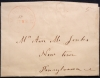 McDONOUGH DELAWARE 1850S STAMPLESS FOLDED LETTER TO NEW TOWN PENNSYLVANIA - POSTAL-HISTORY