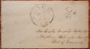 NASHUA NEW HAMPSHIRE 1851/2 STAMPLESS COVER TO WOODBURY VERMONT - POSTAL HISTORY