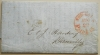 NEW YORK 1852 STAMPLESS FOLDED LETTER WITH PAID1 CT IN RED POSTMARK. SEE LETTER DETAILS - POSTAL-HISTORY