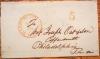 WASHINGTON DC 1847 STAMPLESS FOLDED LETTER TO FAMED COPPERSMITHS JOSEPH OAT & SON, PHILADELPHIA - POSTAL-HISTORY