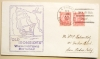 U.S. FRIGATE CONSTITUTION CACHET 1934 SAN DIEGO CALIFORNIA POSTMARK COVER COMMEMORATING WASHINGTON'S BIRTHDAY - MARITIME-POSTAL-HISTORY