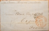 NEW YORK TO COGNAC FRANCE 1858 TRANSATLANTIC STEAMSHIP COVER - MARITIME POSTAL HISTORY