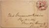 PHILADELPHIA PENNSYLVANIA OCTAGON SOCK-ON-THE-NOSE POSTMARK ON EARLY COVER.  SCOTT #26 STAMP - POSTAL-HISTORY