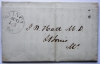 quincy.illinois.1845.postal.history.stampless.folded.letter.to.st.louis.missouri