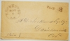 POSTAL HISTORY - ROCHESTER NEW HAMPSHIRE 1852 STAMPLESS COVER WITH NOTE