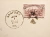 SANFORD MAINE 1893 COVER WITH WELL-CENTERED 2-CT COLUMBIAN SERIES STAMP - POSTAL-HISTORY
