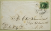 SCOTT 15 ON COVER. EARLY SAN FRANCISCO CALIFORNIA COVER TO PORTSMOUTH NEW HAMPSHIRE