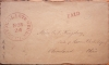 SOUTH GLASTENBURY CONNECTICUT 1850-54 STAMPLESS FOLDED COVER - POSTAL-HISTORY