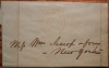 SPRINGFIELD MASSACHUSETTS 1850 STAMPLESS FOLDED LETTER TO NEW YORK - POSTAL HISTORY