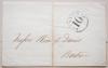 BOSTON MASSACHUSETTS STEAMSHIP 10 POSTMARK STAMPLESS FOLDED WRAPPER - MARITIME POSTAL HISTORY