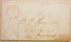 VINCENNES INDIANA 1837 STAMPLESS FOLDED COVER RECEIPT TO INDIANAPOLIS BANK BRANCH - POSTAL HISTORY